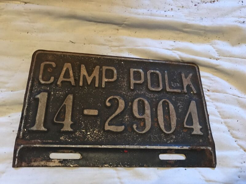 1940s Camp Polk License Plate Topper