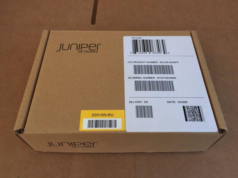 NEW Juniper EX-UM-4X4SFP EX4300 4-Port 1GbE/10GbE SFP+ Uplink Module
