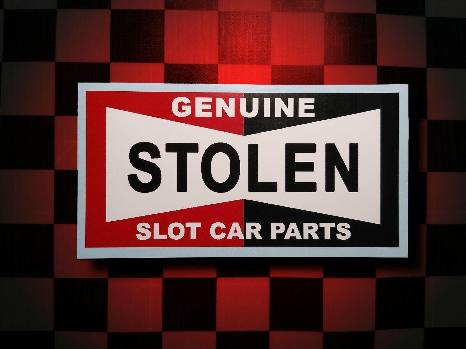 Car Parts - GENUINE STOLEN SLOT CAR PARTS • Pit Box Sticker • Decal