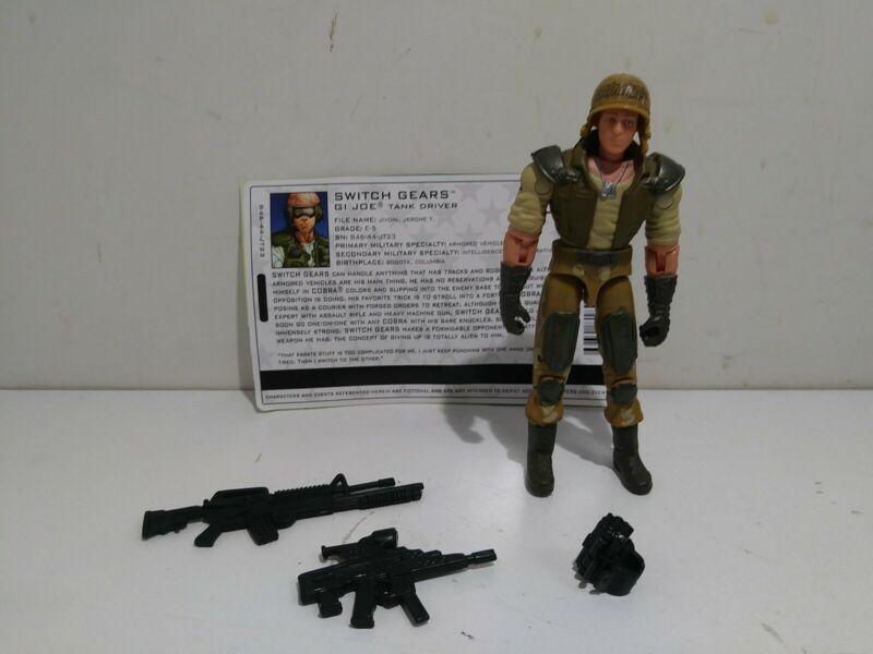 2004 Hasbro GI Joe Switch Gears v2 Tank Driver Action Figure COMPLETE