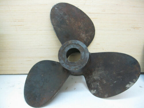"Vintage Steel 3 blade Boat Propeller Prop 12"""