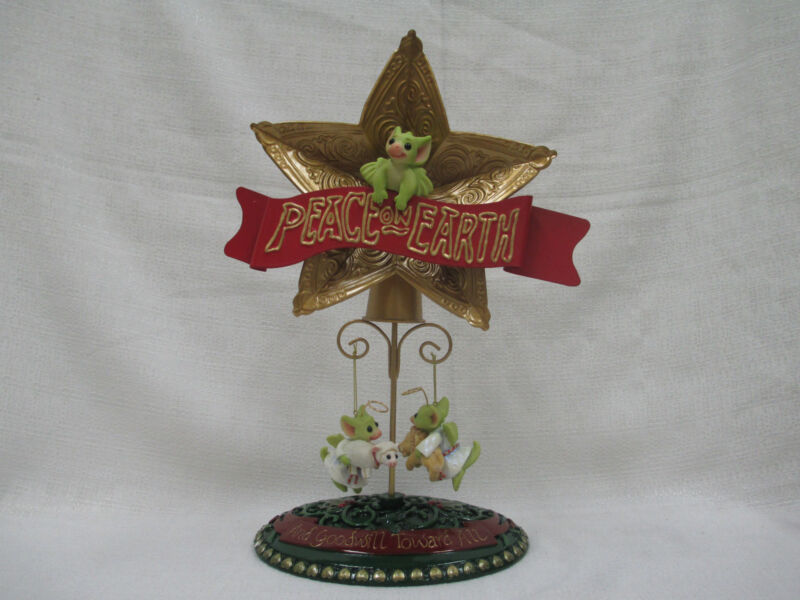 Whimsical World Of Pocket Dragons Peace on Earth Christmas Tree Topper Ornaments