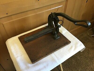 Wow Vintage Chandler Price Printing Cutter Leads Slug Industrial Hot Metal Tool