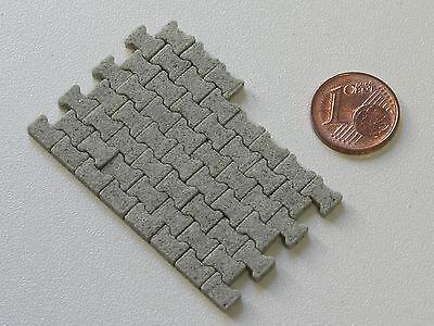 800 Beton H-Verbund Pflastersteine Knochenpflaster Maßstab 1/32 1/35 Spur 1