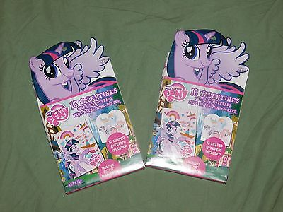 My Little Pony 2 box lot X 16 32 class Valentines notepads and poster New NIB
