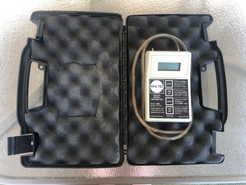 Infiltec DM1 Digital Micro-Manometer and Dwyer Pitot Tube- Radon Mitigation