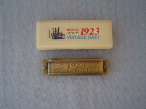 "HERING ""1923 VINTAGE HARP"" KEY OF ""B"" WITH ORIGINAL STORAGE BOX AND PAPERWORK"
