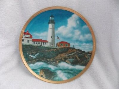 Lighthouse Collectible Plates (1989 Portland Head Lighthouse Plate by The American Lighthouse Plate)