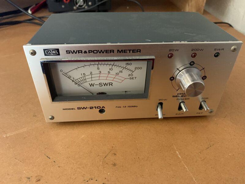 DAIWA Sw-210a 1,5 -150  MHZ 200 Watt SWR wattmeter