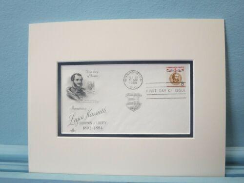 The Hungarian Revolution of 1848 & Lajos Kossuth & First Day Cover of his stamp