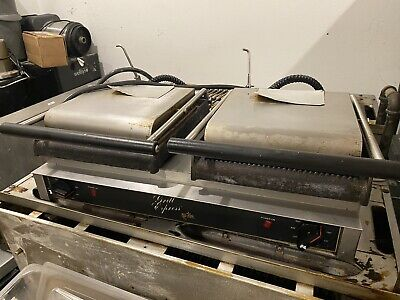 Star Gx20ig Double Commercial Panini Press W Cast Iron Grooved Plates 208-240v