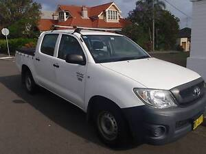 2009 Toyota Hilux TGN16R Workmate Dual Cab 6seat 4dr Manua5s MY10 Wollstonecraft North Sydney Area Preview