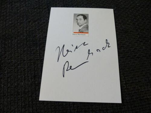 HEINZ RENNHACK signed Autogramm auf 10x15 cm Karteikarte InPerson LOOK