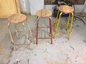 3 Vintage Stools - New handmade tops Dulwich Hill Marrickville Area Preview