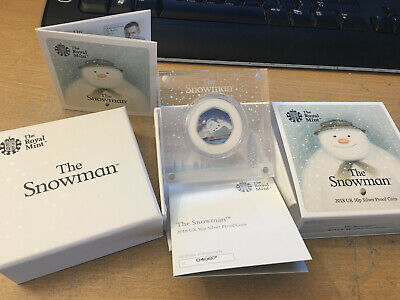 2018 The Snowman 50p Silver Proof Coin Issued By The Royal Mint with COA 4007