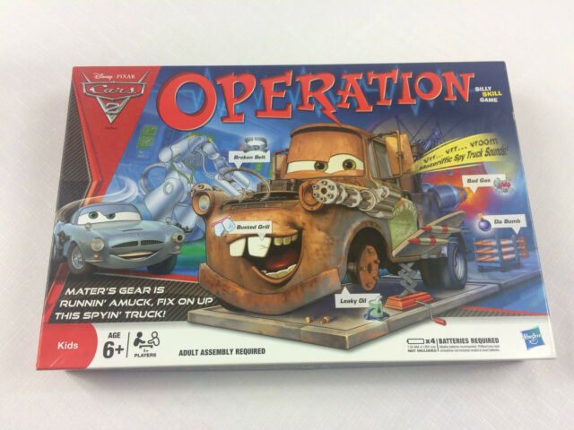 Disney Pixar Cars 2 Operation Game from Hasbro - Complete GC