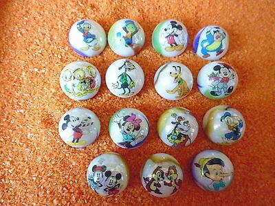 15 verschiedene Walt Disney Glas Murmeln oder Knicker