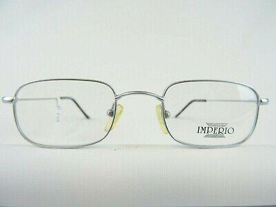 IMPERIO dezente silberfarbene Herrenbrille sehr leicht für kleines Gesicht Gr. S