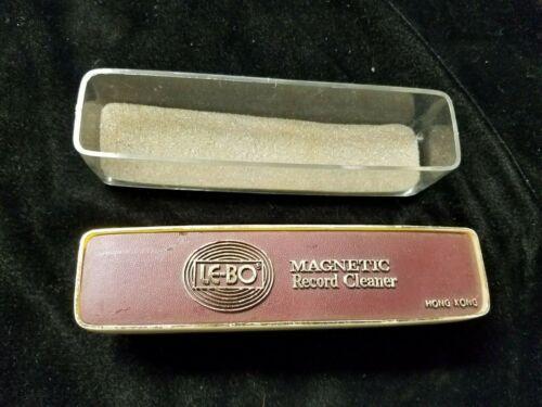 "Vintage Le-Bo Magnetic Record Cleaner Brush Vinyl Lp 5-3/4"" Long"