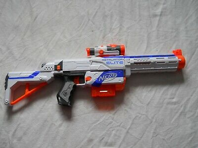 Nerf Retaliator Elite N Strike With Stock Barrel & 6 Round Clip Soft Dart Gun
