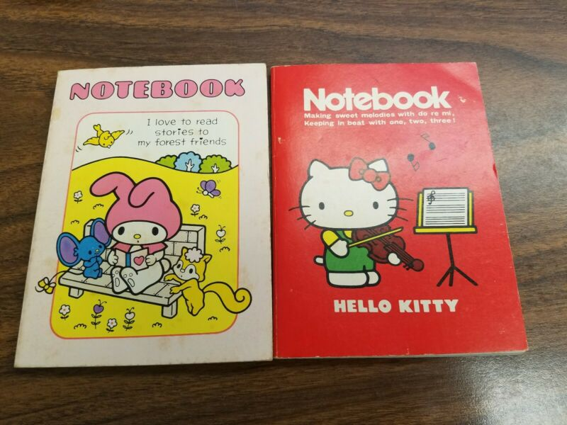 2 Vintage (1976) Sanrio Hello Kitty , My Melody Notebooks