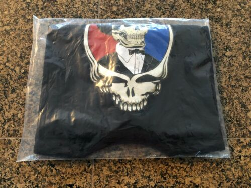 Grateful Dead Skull With Top Hat Spring 1990 T Shirt (2XL) Black NEW (SEALED)