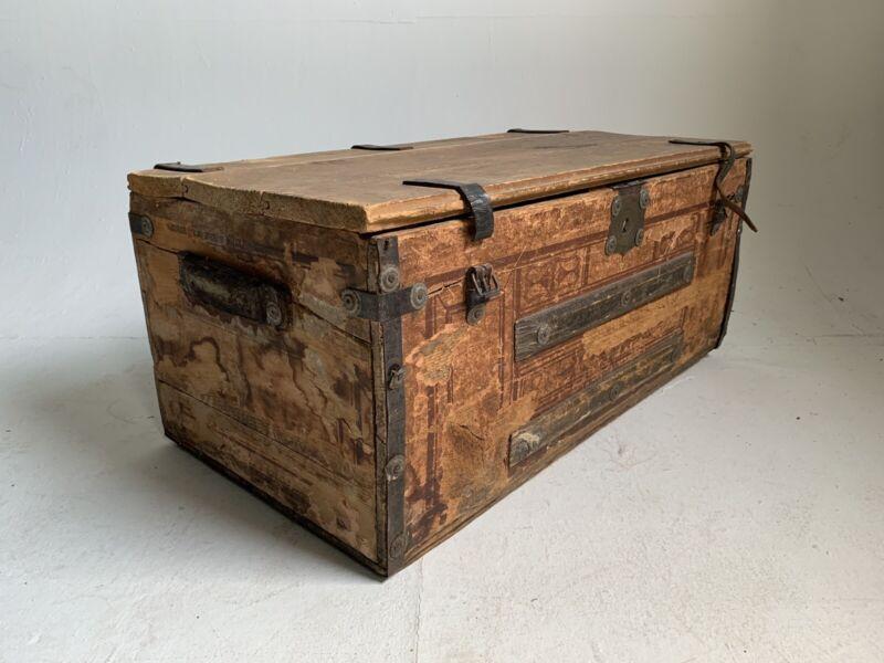 Goyard Antique Vintage Monogram Steamer Trunk Louis Vuitton Suitcase 19th C