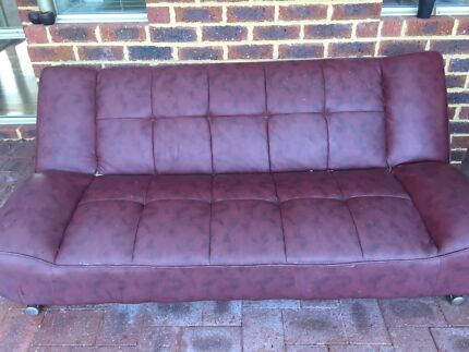 Leather sofa bed Quinns Rocks Wanneroo Area Preview