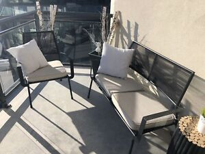 Iron patio set