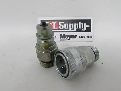 New Meyer Snow Plow Pin Style Coupler Set 34-16 O-ring E60 E57