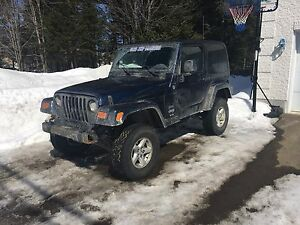 Jeep tj 2005, 6cyl, 4.0