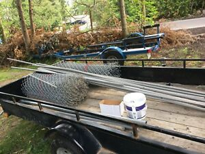Chain link 100 ft fencing kit