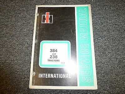 International Harvester Ih 384 Utility Farm Tractor Shop Service Repair Manual