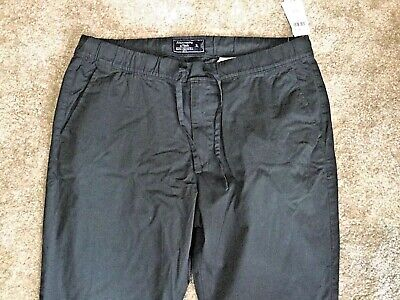 NWT $78 Abercrombie & Fitch Men's Rustin Athletic Slim Fit Chino Pants XL Gray