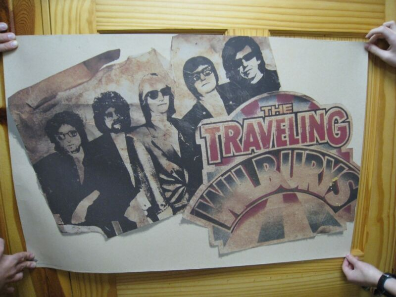 The Traveling Wilburys Poster Band Shot
