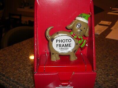 NEW Dog Photo Frame RESIN  Christmas Stocking Holder Hanger ()