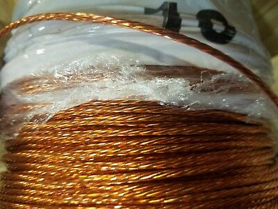 Ground Wire Stranded Bare Copper 10 Awg 50 Reel Jewelry Crafts Grounding Usa