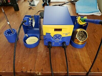 Hakko Fm-203 Soldering Station Used Once With Fm-2027 Iron And Fm-2023 Tweezers