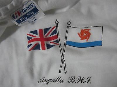 Anguilla BWI Caribbean island shirt hanes 50 50 80s 90s Dolphin flag vtg image