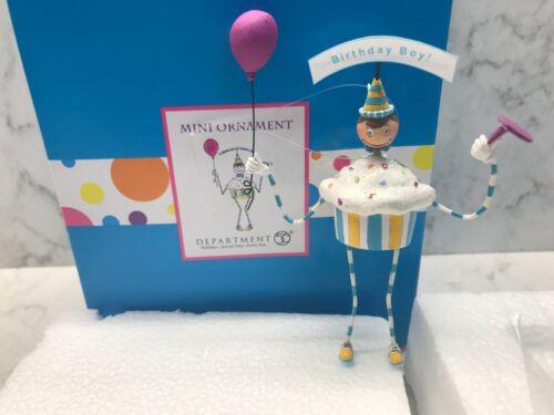"Dept 56 Glitterville HOLIDAY Ornament BIRTHDAY BOY New 3"""