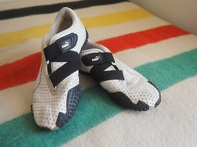 Puma Mostro Perforated Womens 7 Z-Strap Athletic Shoes 341953 Black White