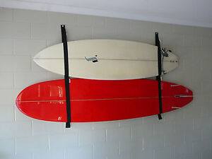 SURFBOARD-GARAGE-STORAGE-RACK-STRAP-SYSTEM-HOLDS-2-BOARDS-Plus-Free-Slater-Wax