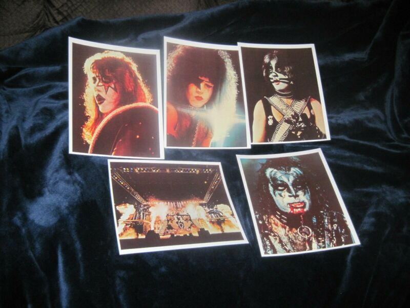 KISS 1978 Aucoin Kiss Army photos complete set Alive 2 Ace Gene Peter Paul