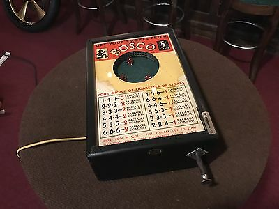 "1933 BALLY ""BOSCO"" 5 Cent DICE Cigarette Electric Trade Stimulator ""Watch Video"""