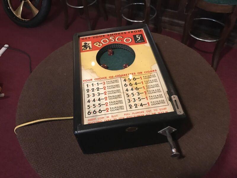 """1933 Cigarette Trade Stimulator BALLY """"BOSCO"""" DICE Electric """"Watch Video"""""""