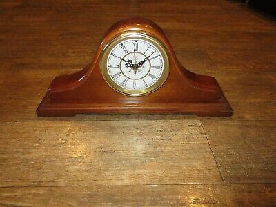 Sunbeam Quartz Mantle Shelf Table Clock Solid Wood 882-620 Working!