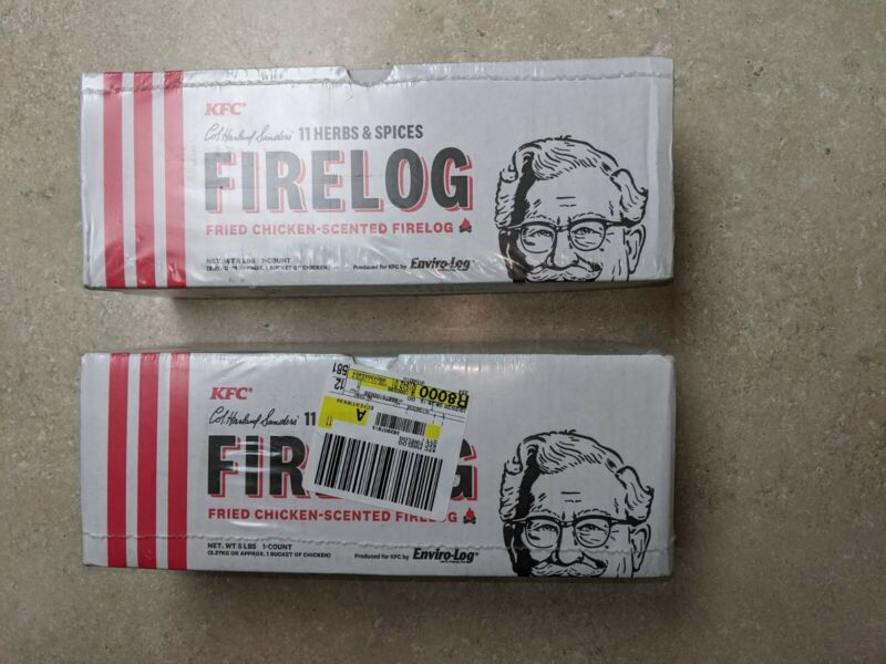KFC® Limited-Edition 11 Herbs & Spices Firelog by Enviro-Log®  SET OF 2 LOT
