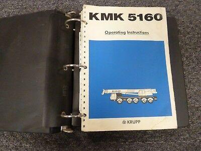 Krupp Model Kmk 5160 All Terrain Crane Owner Operator Troubleshooting Manual
