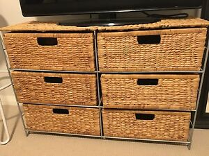 6 draw chest, woven hyacinth Doubleview Stirling Area Preview