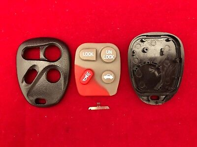 New 4 Button Replacement Remote Shell Case and Pad For GM Chevy Buick USA SELLER 4 Button Pad